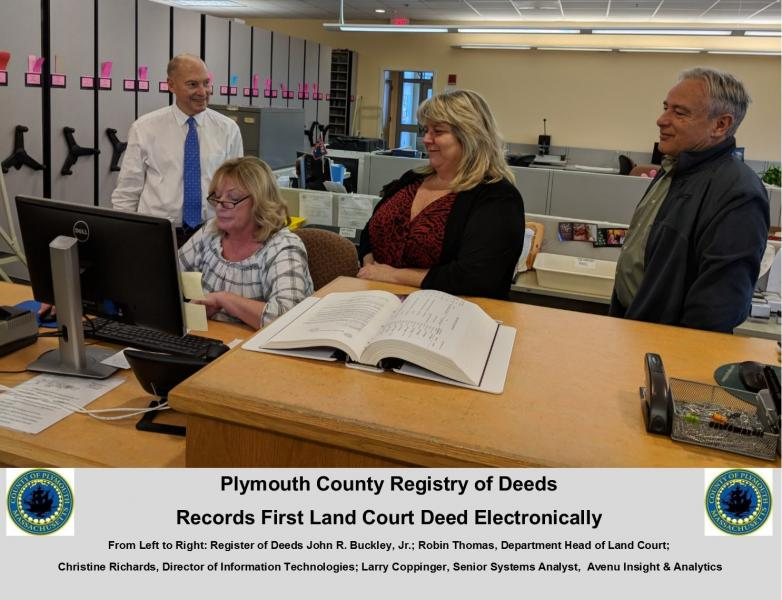 Registry records first land court deed electronically